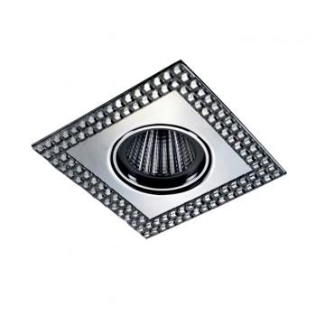 Встраиваемый светильник Novotech Mirror 369838, 1xGU5.3x50W, зеркальный, хром, металл