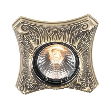 Встраиваемый светильник Novotech Vintage 369849, 1xGU5.3x50W, бронза, металл