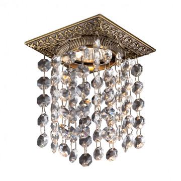 Встраиваемый светильник Novotech Grape 369861, 1xGU5.3x50W, бронза, прозрачный, металл, хрусталь