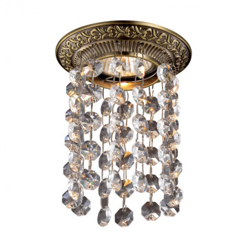 Встраиваемый светильник Novotech Grape 369862, 1xGU5.3x50W, бронза, прозрачный, металл, хрусталь
