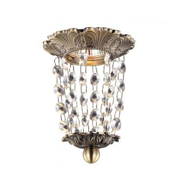 Встраиваемый светильник Novotech Grape 369863, 1xGU5.3x50W, бронза, прозрачный, металл, хрусталь