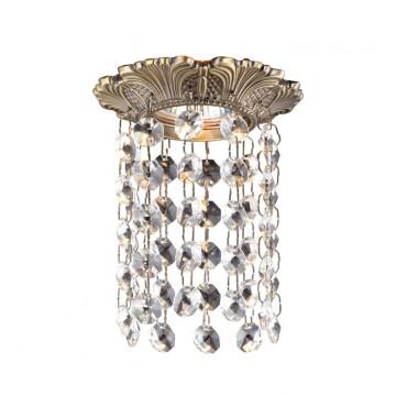 Встраиваемый светильник Novotech Grape 369864, 1xGU5.3x50W, бронза, прозрачный, металл, хрусталь