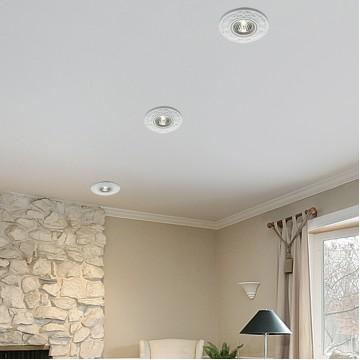 Встраиваемый светильник Novotech Farfor 369868, 1xGU5.3x50W, белый, керамика - миниатюра 2