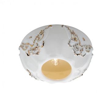 Встраиваемый светильник Novotech Farfor 369872, 1xG9x40W, белый, золото, керамика