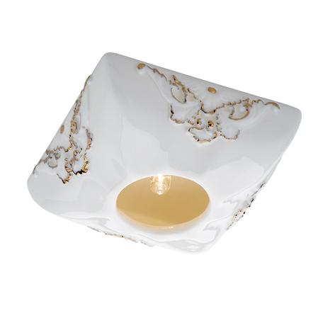 Встраиваемый светильник Novotech Farfor 369873, 1xG9x40W, белый, золото, керамика