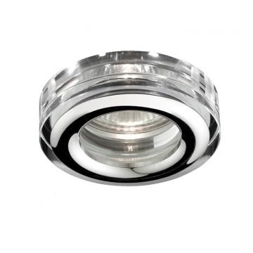 Встраиваемый светильник Novotech Aqua 369879, IP54, 1xGU5.3x50W, прозрачный, хром, металл, хрусталь, стекло