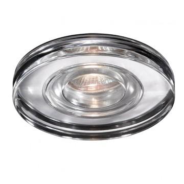 Встраиваемый светильник Novotech Aqua 369883, IP54, 1xGU5.3x50W, прозрачный, хром, металл, хрусталь, стекло
