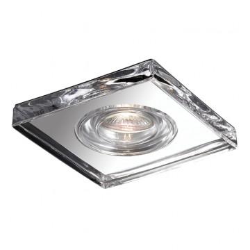 Встраиваемый светильник Novotech Aqua 369884, IP54, 1xGU5.3x50W, прозрачный, хром, металл, хрусталь, стекло