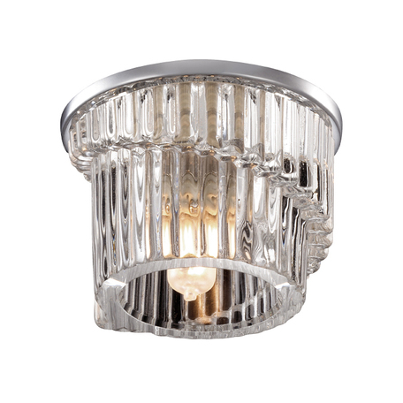 Встраиваемый светильник Novotech Dew 369900, 1xG9x40W, хром, прозрачный, металл, хрусталь