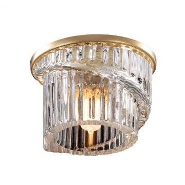 Встраиваемый светильник Novotech Dew 369901, 1xG9x40W, золото, прозрачный, металл, хрусталь