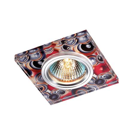 Встраиваемый светильник Novotech Rainbow 369910, 1xGU5.3x50W, разноцветный, металл, стекло