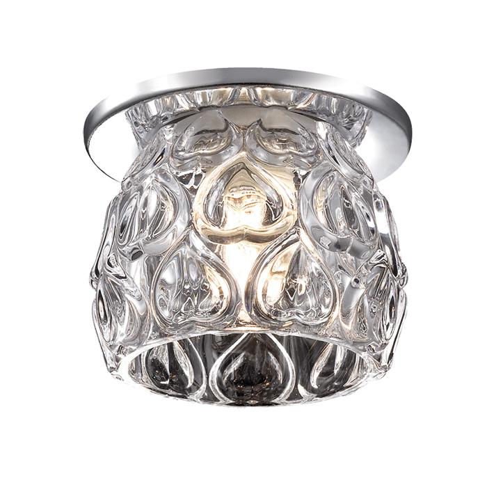 Встраиваемый светильник Novotech Vetro 369919, 1xG9x40W, хром, прозрачный, металл, стекло - фото 1