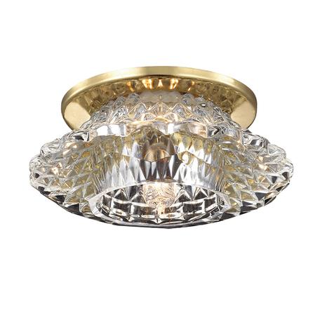 Встраиваемый светильник Novotech Enigma 369924, 1xG9x40W, золото, прозрачный, металл, хрусталь