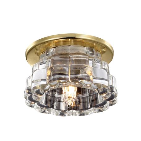 Встраиваемый светильник Novotech Enigma 369926, 1xG9x40W, золото, прозрачный, металл, хрусталь