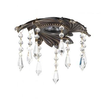 Встраиваемый светильник Novotech Grape 369967, 1xGU5.3x50W, бронза, прозрачный, металл, хрусталь