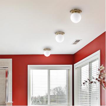Встраиваемый светильник Novotech Sphere 369975, IP44, 1xG9x40W, бронза, белый, металл, стекло - миниатюра 2