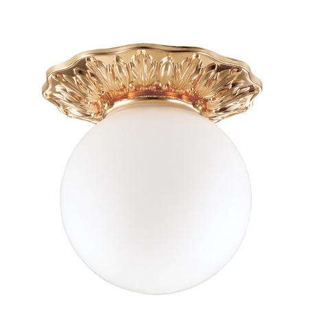 Встраиваемый светильник Novotech Spot Sphere 369979, IP44, 1xG9x40W, золото, белый, металл, стекло