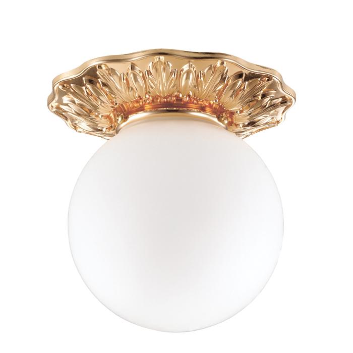 Встраиваемый светильник Novotech Spot Sphere 369979, IP44, 1xG9x40W, золото, белый, металл, стекло - фото 1