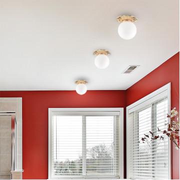 Встраиваемый светильник Novotech Spot Sphere 369979, IP44, 1xG9x40W, золото, белый, металл, стекло - миниатюра 2