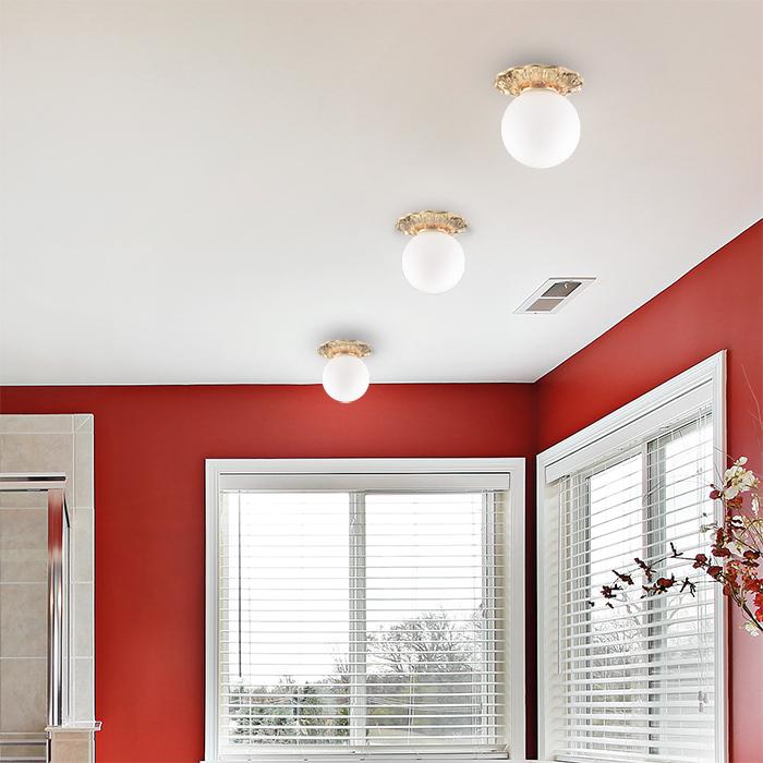 Встраиваемый светильник Novotech Spot Sphere 369979, IP44, 1xG9x40W, золото, белый, металл, стекло - фото 2