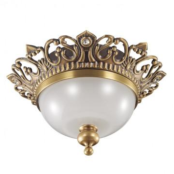 Встраиваемый светильник Novotech Baroque 369980, 1xGU5.3x50W, бронза, металл, стекло