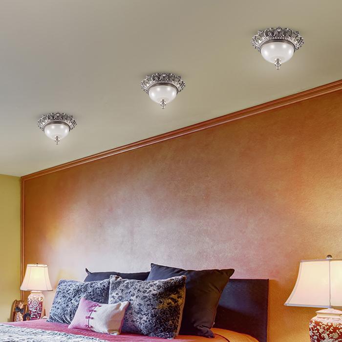 Встраиваемый светильник Novotech Baroque 369981, 1xGU5.3x50W, никель, прозрачный, белый, металл, стекло - фото 2