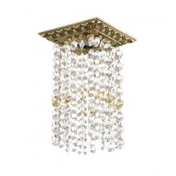 Встраиваемый светильник Novotech Grape 369985, 1xGU5.3x50W, бронза, прозрачный, янтарь, металл, хрусталь