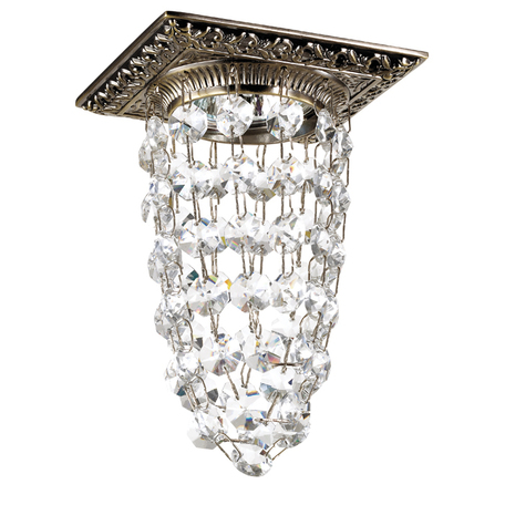 Встраиваемый светильник Novotech Grape 369993, 1xGU5.3x50W, бронза, прозрачный, металл, хрусталь