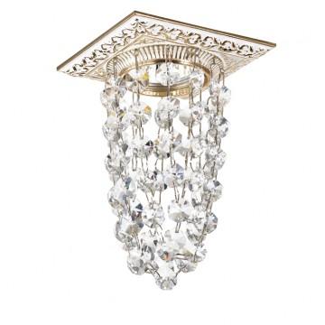 Встраиваемый светильник Novotech Grape 369994, 1xGU5.3x50W, белый, золото, прозрачный, металл, хрусталь