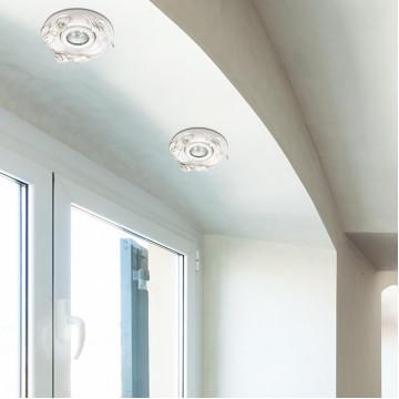 Встраиваемый светильник Novotech Farfor 370038, 1xGU5.3x50W, белый, серебро, керамика - миниатюра 2