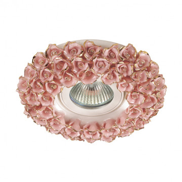 Встраиваемый светильник Novotech Farfor 370044, 1xGU5.3x50W, золото, розовый, керамика