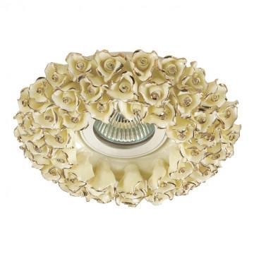 Встраиваемый светильник Novotech Farfor 370045, 1xGU5.3x50W, желтый, золото, керамика