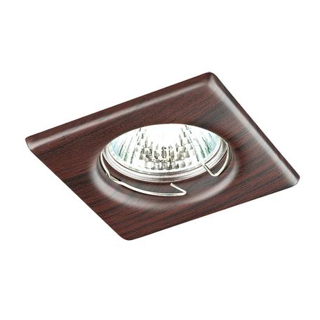 Встраиваемый светильник Novotech Spot Wood 369718, 1xGU5.3x50W, коричневый, металл