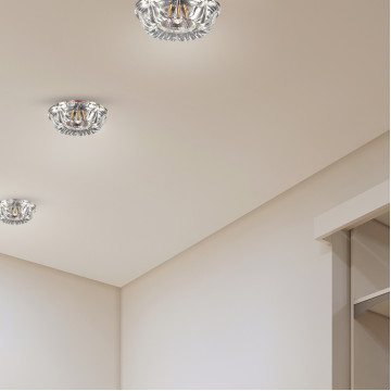 Встраиваемый светильник Novotech Spot Arctica 369719, 1xGU5.3x50W, хром, прозрачный, металл, хрусталь - миниатюра 2