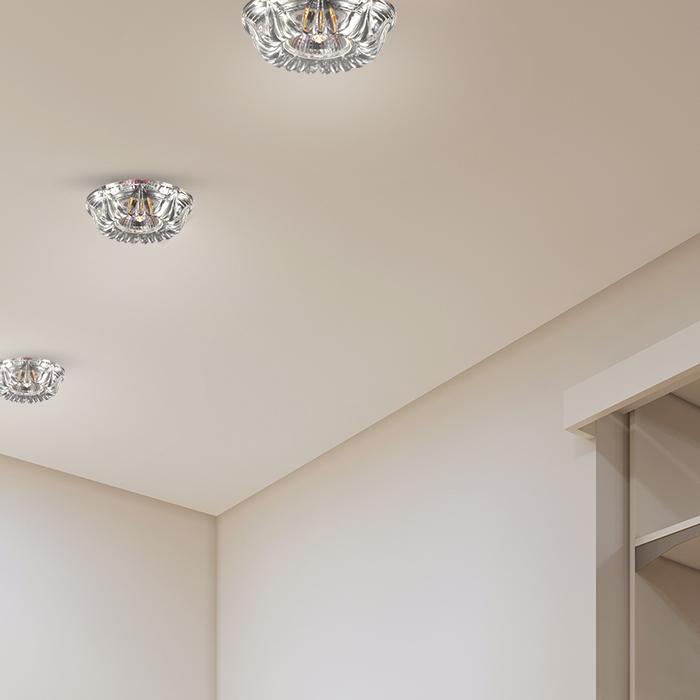 Встраиваемый светильник Novotech Spot Arctica 369719, 1xGU5.3x50W, хром, прозрачный, металл, хрусталь - фото 2