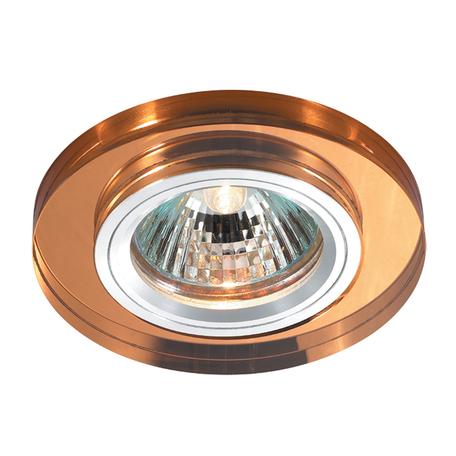 Встраиваемый светильник Novotech Mirror 369757, 1xGU5.3x50W, янтарь, хрусталь