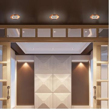 Встраиваемый светильник Novotech Mirror 369757, 1xGU5.3x50W, янтарь, хрусталь - миниатюра 2
