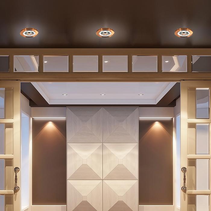 Встраиваемый светильник Novotech Mirror 369757, 1xGU5.3x50W, янтарь, хрусталь - фото 2