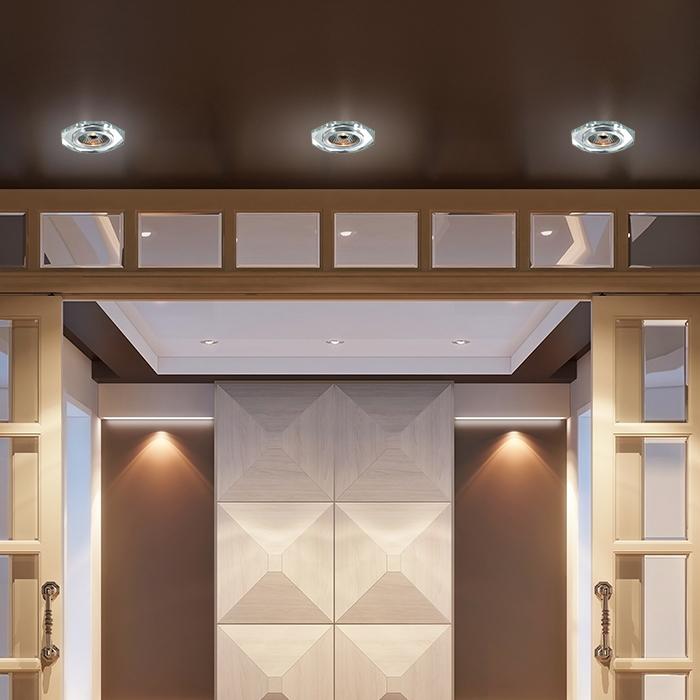 Встраиваемый светильник Novotech Spot Mirror 369759, 1xGU5.3x50W, хром, зеркальный, хрусталь - фото 2