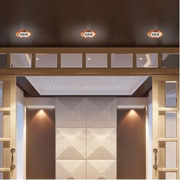 Встраиваемый светильник Novotech Mirror 369760, 1xGU5.3x50W, янтарь, хрусталь - миниатюра 2