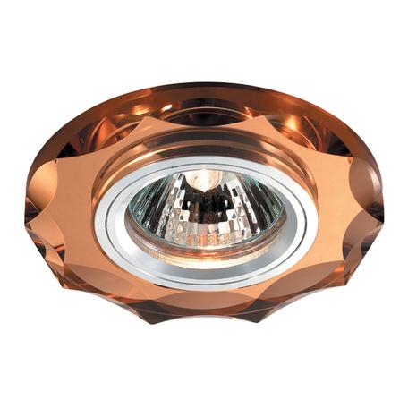 Встраиваемый светильник Novotech Mirror 369763, 1xGU5.3x50W, янтарь, хрусталь