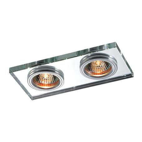 Встраиваемый светильник Novotech Spot Mirror 369765, 2xGU5.3x50W, хром, зеркальный, хрусталь
