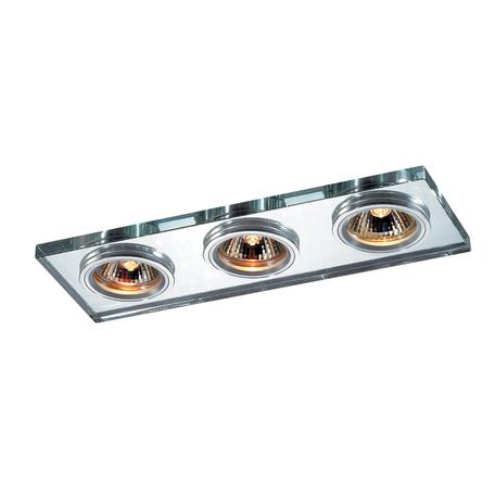 Встраиваемый светильник Novotech Spot Mirror 369766, 3xGU5.3x50W, хром, зеркальный, хрусталь