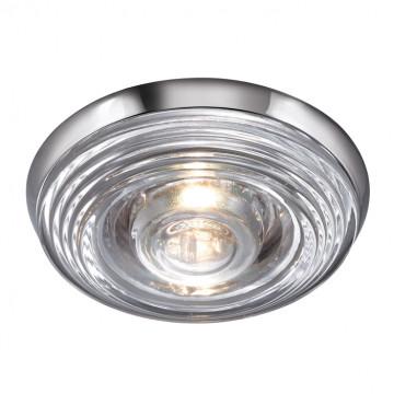 Встраиваемый светильник Novotech Aqua 369812, IP65, 1xGU5.3x50W, хром, прозрачный, стекло