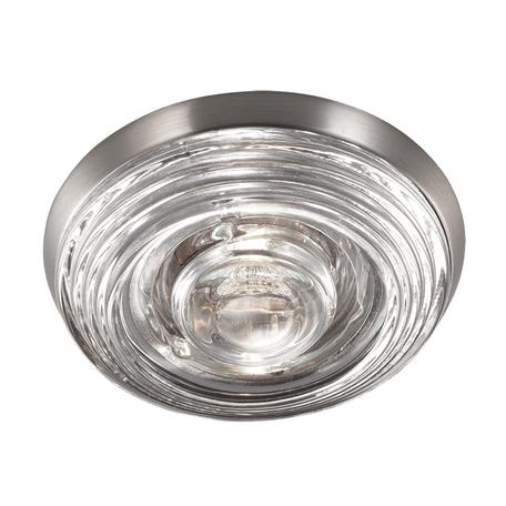 Встраиваемый светильник Novotech Spot Aqua 369813, IP65, 1xGU5.3x50W, никель, прозрачный, стекло
