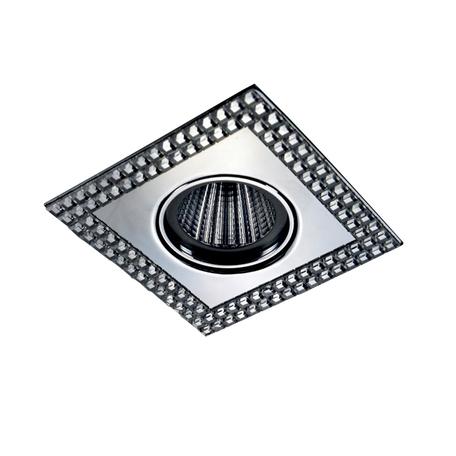 Встраиваемый светильник Novotech Mirror 369838, 1xGU5.3x50W, хром, металл