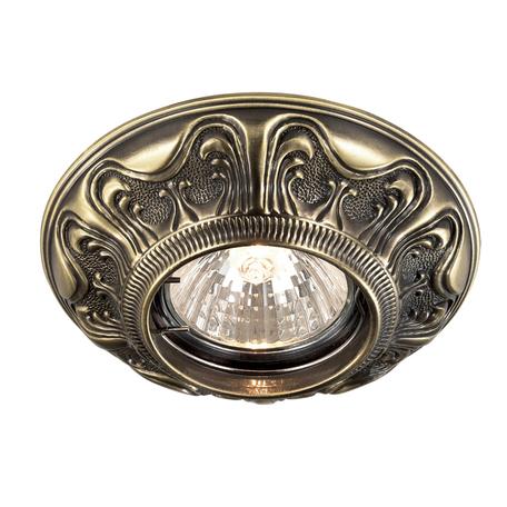 Встраиваемый светильник Novotech Vintage 369852, 1xGU5.3x50W, бронза, металл