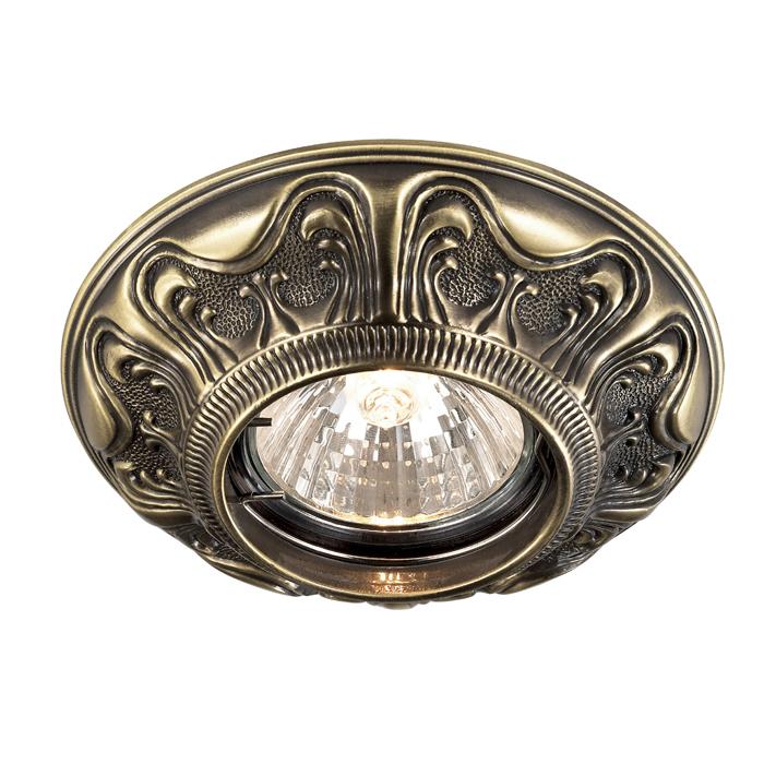Встраиваемый светильник Novotech Spot Vintage 369852, 1xGU5.3x50W, бронза, металл - фото 1