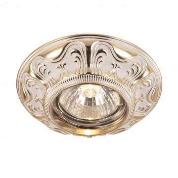 Встраиваемый светильник Novotech Vintage 369853, 1xGU5.3x50W, золото, металл