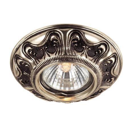 Встраиваемый светильник Novotech Vintage 369854, 1xGU5.3x50W, коричневый, металл